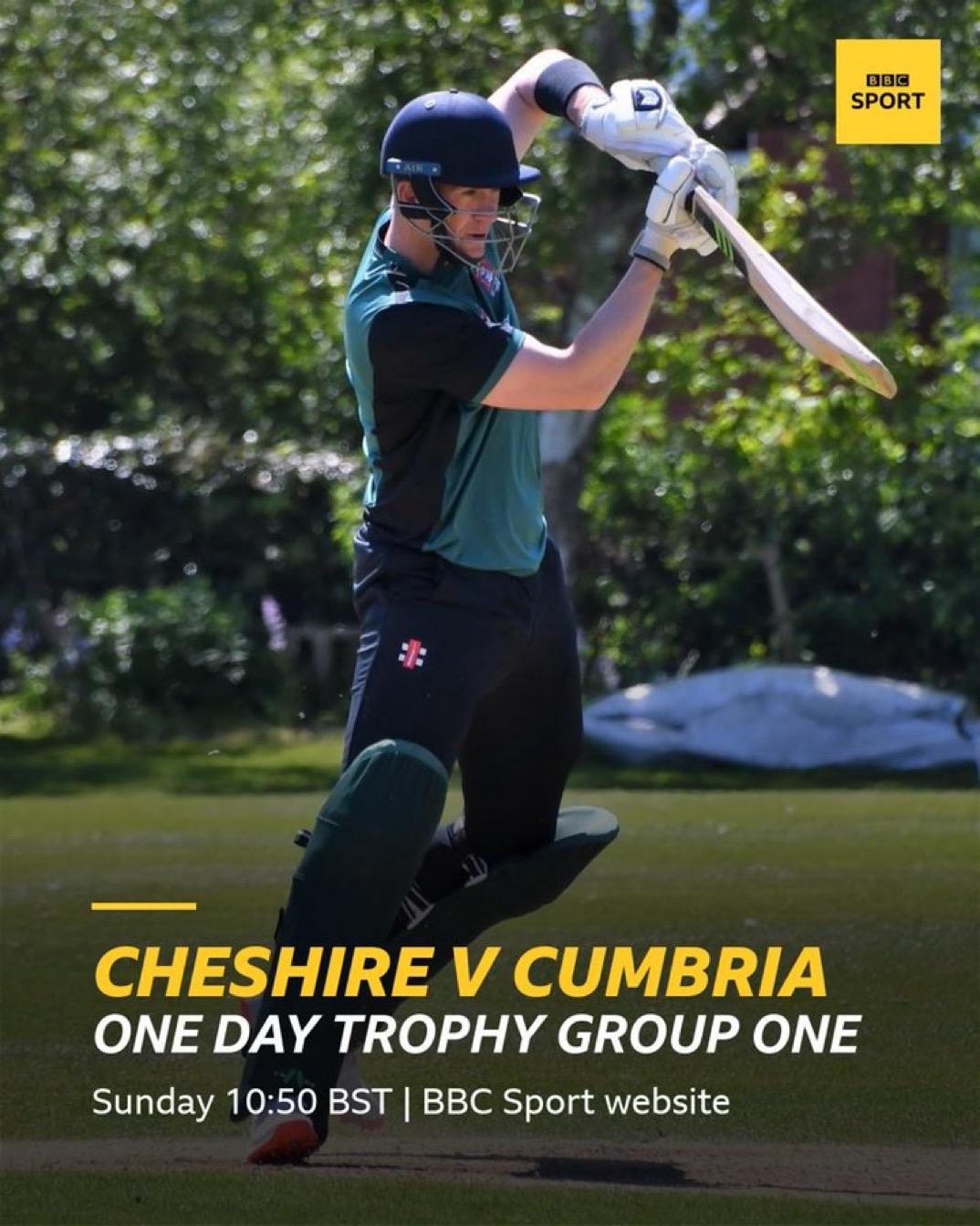 BBC Radio online coverage of Cheshire v Cumbria plus LIVE STREAMING