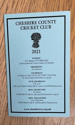 Cheshire CCC Membership