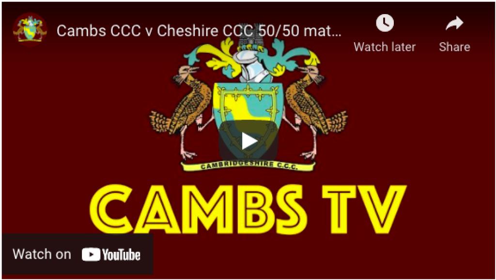Cambridgeshire v Cheshire - watch the full match