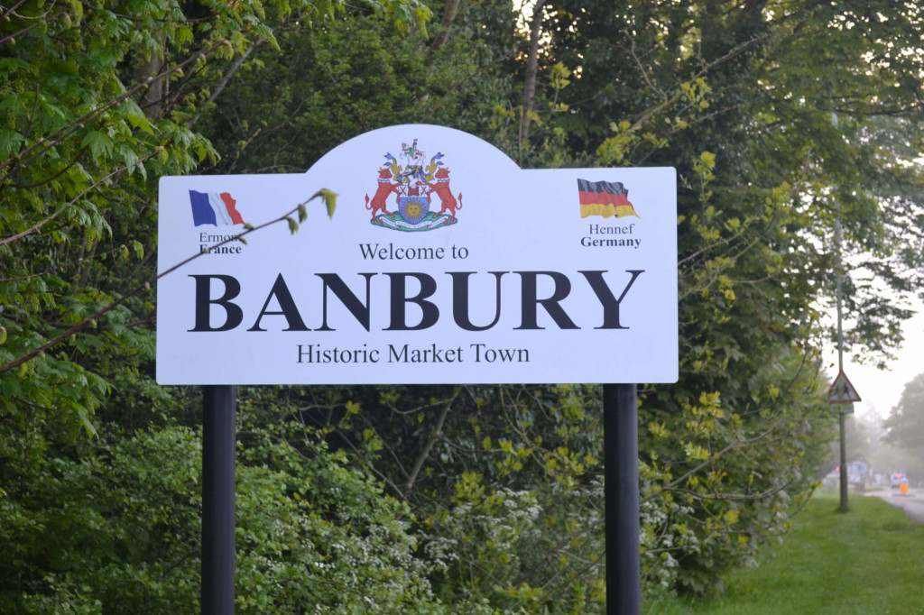 Travelling to Banbury this weekend?