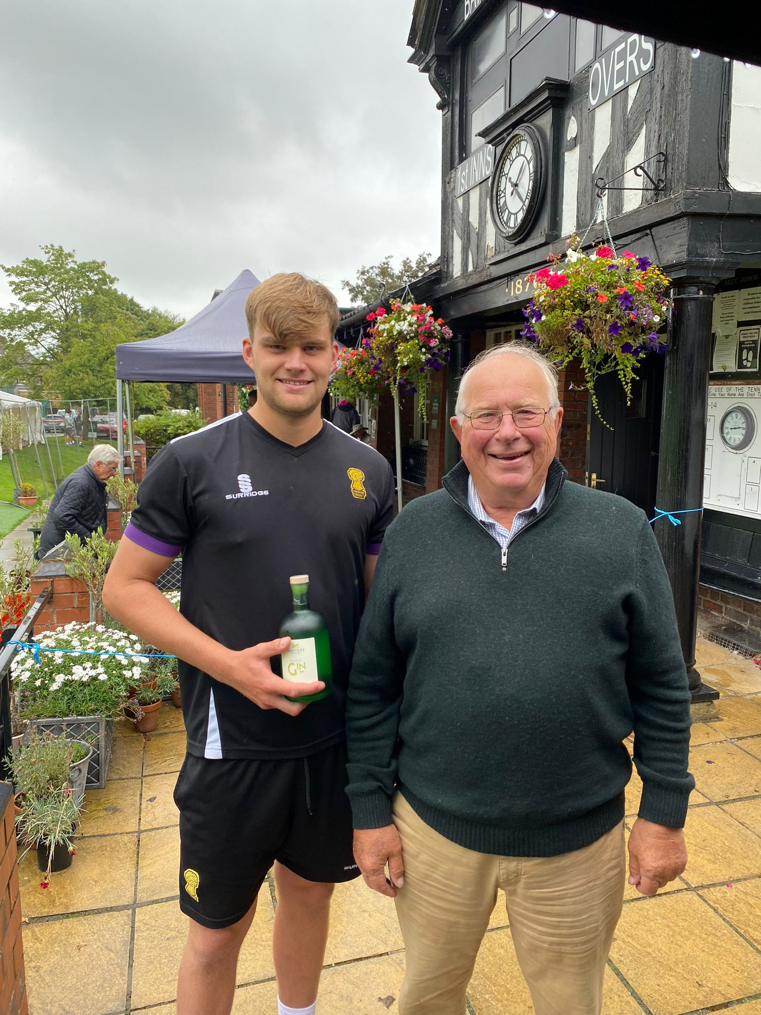 Man of the match Ben takes honours (and gin!)